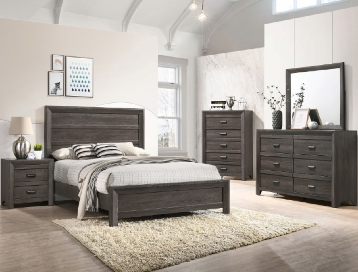 B6700 RUSTIC DARK GRAY BEDROOM SET