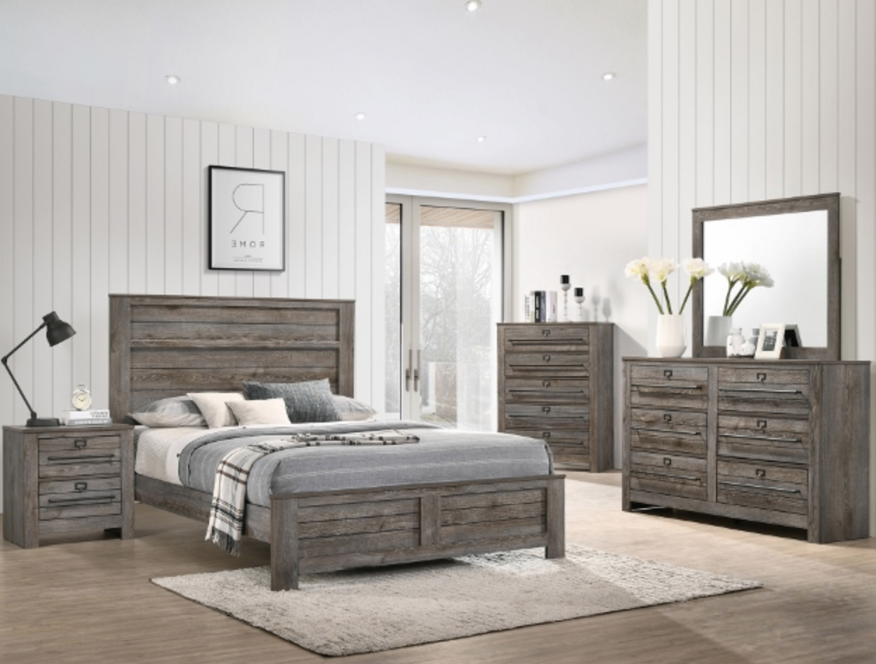 B6960 RUSTIC FARM STYLE BEDROOM SET