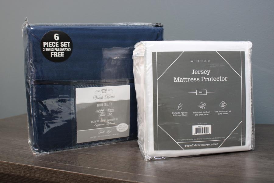 FULL bundle mattress protector sheet set
