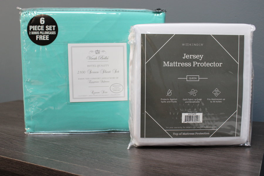 queen sheet and protector bundle