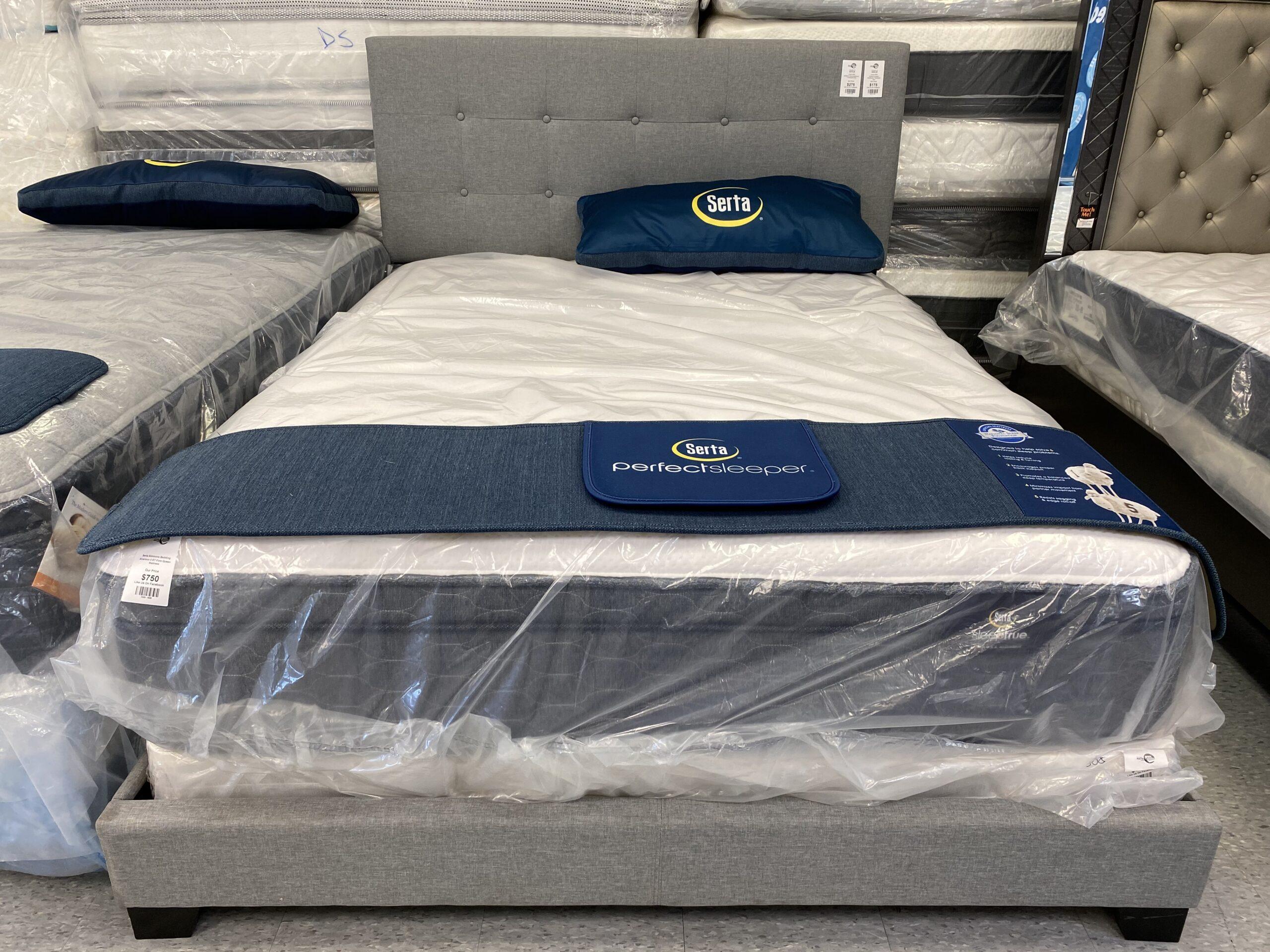 King Upholstery Gray Bed Frame
